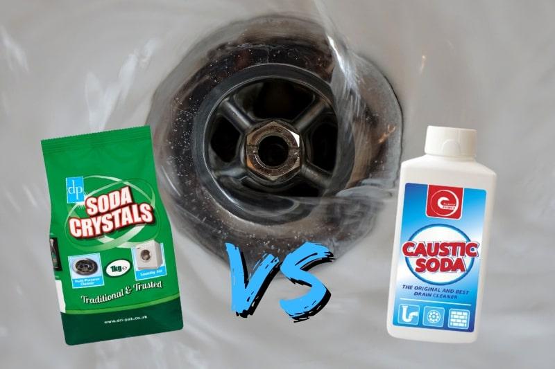 soda crystals vs caustic soda